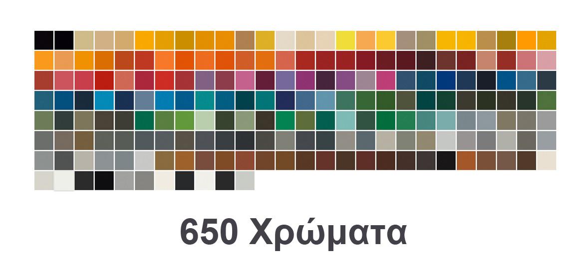 250 Χρώματα και Χρώμιο