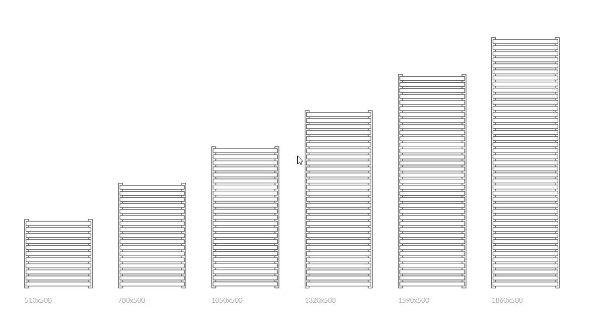Θερμαντικό σώμα / Πετσετοκρεμάστρα TERMA City - Τεχνικά χαρακτηριστικά.