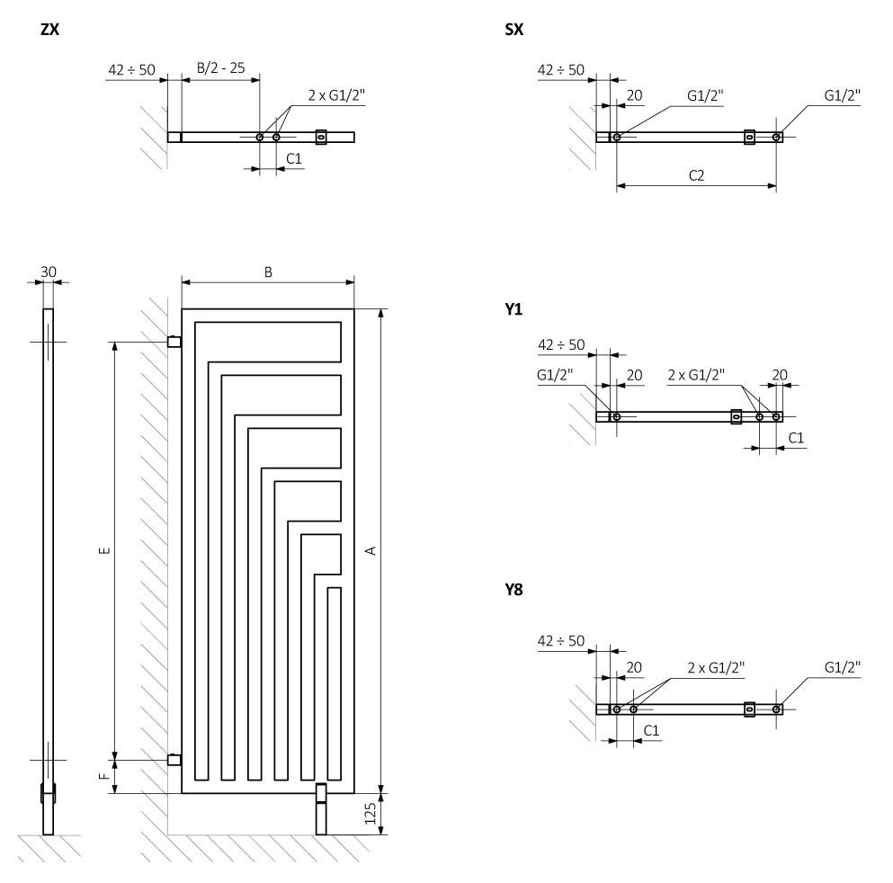 Θερμαντικό Σώμα Angus DW - Τεχνικά Χαρακτηριστικά
