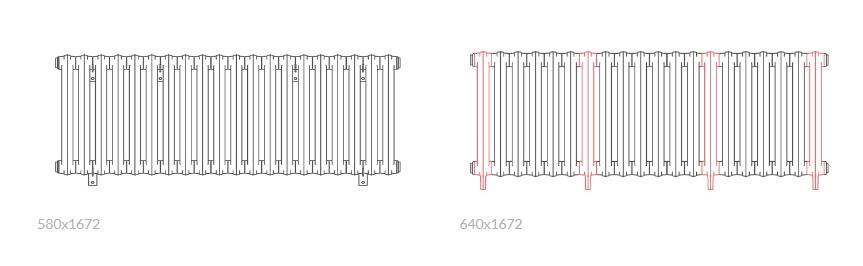 Θερμαντικό σώμα TERMA Bart - Τεχνικά Χαρακτηριστικά