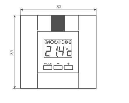 Θερμοστάτης & Θερμική Αντίσταση TERMA DT IR - Τεχνικά Χαρακτηριστικά