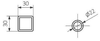 Πετσετοκρεμάστρα Fiona - Τεχνικά Χαρακτηριστικά