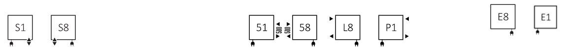 Πετσετοκρεμάστρα TERMA Fiona One - Συνδέσεις