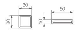 Πετσετοκρεμάστρα TERMA Iron S - Τεχνικά Χαρακτηριστικά