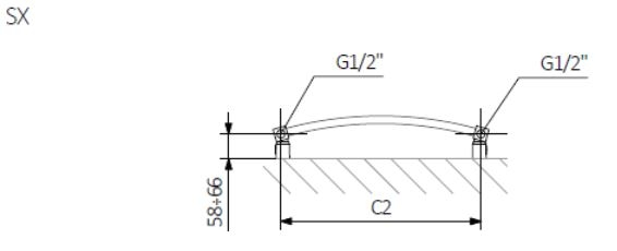 Θερμαντικό Σώμα / Πετσετοκρεμάστρα TERMA Jade M - Τεχνικά Χαρακτηριστικά