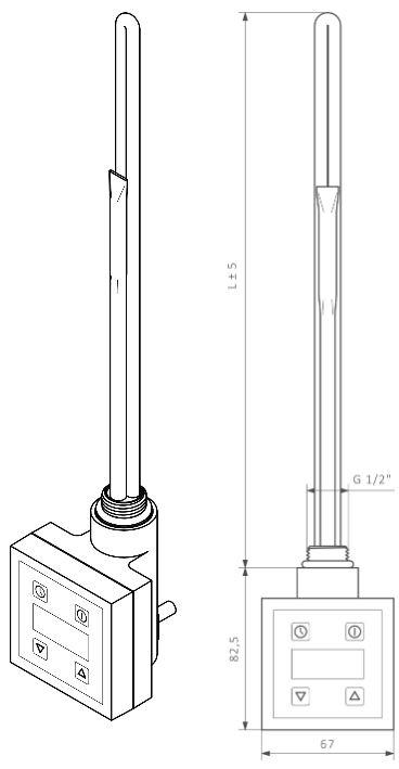 Θερμοστάτης & Θερμική Αντίσταση TERMA KTX 2 - Τεχνικά Χαρακτηριστικά