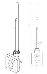 Θερμοστάτης & Θερμική Αντίσταση TERMA KTX 4 BLUE - Τεχνικά Χαρακτηριστικά
