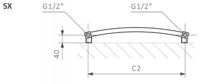 Πετσετοκρεμάστρα TERMA Lena - Τεχνικά Χαρακτηριστικά