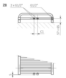 Πετσετοκρεμάστρα TERMA Lima - Τεχνικά Χαρακτηριστικά
