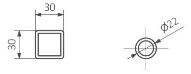 Πετσετοκρεμάστρα TERMA Lima One - Τεχνικά Χαρακτηριστικά