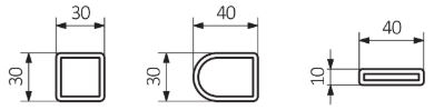 Πετσετοκρεμάστρα TERMA Lukka - Τεχνικά Χαρακτηριστικά