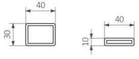Πετσετοκρεμάστρα TERMA Mantis - Τεχνικά Χαρακτηριστικά