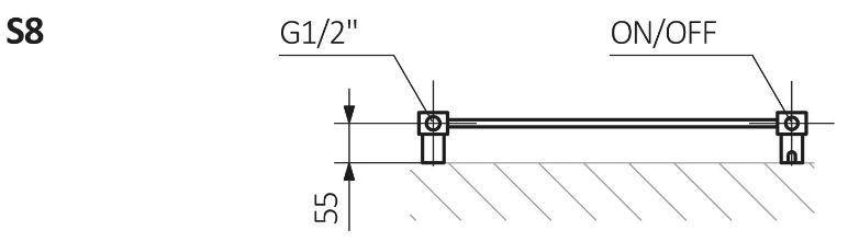 Πετσετοκρεμάστρα TERMA Mantis One - Τεχνικά Χαρακτηριστικά
