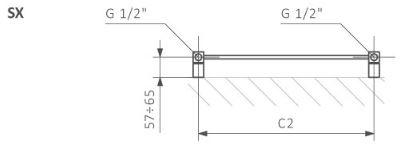 Πετσετοκρεμάστρα TERMA Marlin - Τεχνικά Χαρακτηριστικά