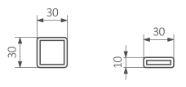 Πετσετοκρεμάστρα TERMA Marlin One - Τεχνικά Χαρακτηριστικά