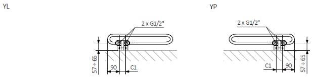 Πετσετοκρεμάστρα TERMA MIchelle - Τεχνικά Χαρακτηριστικά