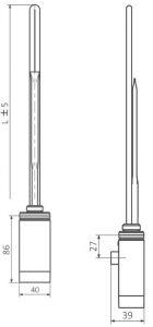 Θερμοστάτης & Θερμική Αντίσταση TERMA ONE P 30x40 - Τεχνικά Χαρακτηριστικά