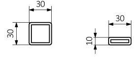 Πετσετοκρεμάστρα TERMA Outcorner- Τεχνικά Χαρακτηριστικά