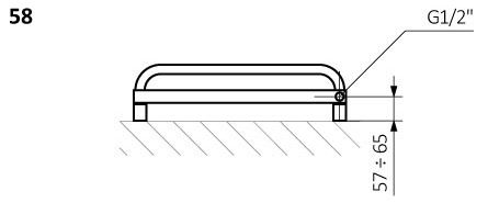 Πετσετοκρεμάστρα TERMA POC 2 -Τεχνικά Χαρακτηριστικά