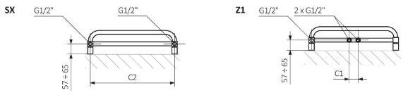 Πετσετοκρεμάστρα TERMA Pola -Τεχνικά Χαρακτηριστικά