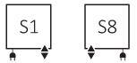 Θερμαντικό Σώμα / Πετσετοκρεμάστρα TERMA Quadrus Bold One - Συνδέσεις