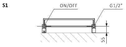 Θερμαντικό Σώμα / Πετσετοκρεμάστρα TERMA Quadrus Bold One - Τεχνικά Χαρακτηριστικά