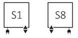 Θερμαντικό Σώμα / Πετσετοκρεμάστρα TERMA Quadrus Slim One - Συνδέσεις