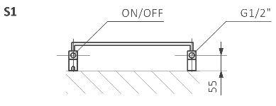 Θερμαντικό Σώμα / Πετσετοκρεμάστρα TERMA Quadrus Slim One - Τεχνικά Χαρακτηριστικά