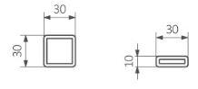 Θερμαντικό Σώμα / Πετσετοκρεμάστρα TERMA Quadrus Slim - Τεχνικά Χαρακτηριστικά