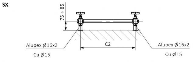 Θερμαντικό Σώμα / Πετσετοκρεμάστρα TERMA Retro - Τεχνικά Χαρακτηριστικά