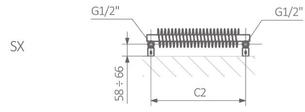 Θερμαντικό Σώμα TERMA Ribbon T - Τεχνικά Χαρακτηριστικά