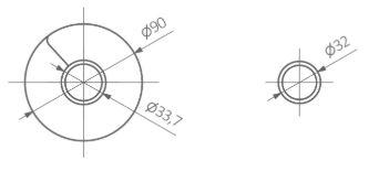 Θερμαντικό Σώμα TERMA Ribbon V E - Τεχνικά Χαρακτηριστικά
