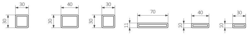 Θερμαντικό Σώμα / Πετσετοκρεμάστρα TERMA Sherwood H - Τεχνικά Χαρακτηριστικά