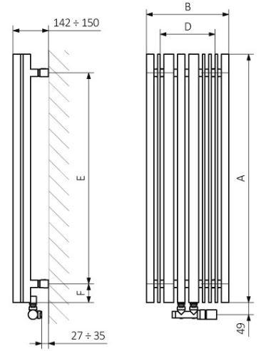 Θερμαντικό Σώμα TERMA Sherwood V - Τεχνικά Χαρακτηριστικά