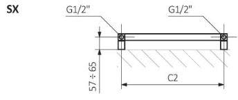 Θερμαντικό Σώμα / Πετσετοκρεμάστρα TERMA Simple - Τεχνικά Χαρακτηριστικά