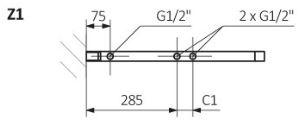 Θερμαντικό Σώμα / Πετσετοκρεμάστρα TERMA Simple DW - Τεχνικά Χαρακτηριστικά
