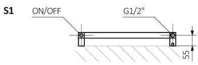 Θερμαντικό Σώμα / Πετσετοκρεμάστρα TERMA Simple One - Τεχνικά Χαρακτηριστικά