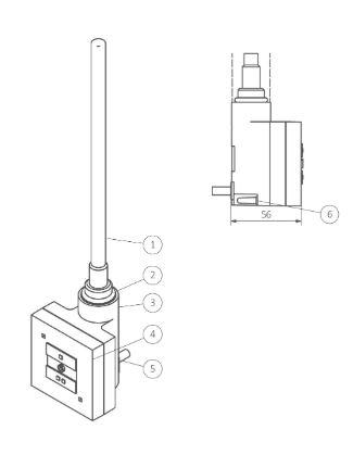 Θερμοστάτης & Θερμική Αντίσταση TERMA SKT 1 - Τεχνικά Χαρακτηριστικά