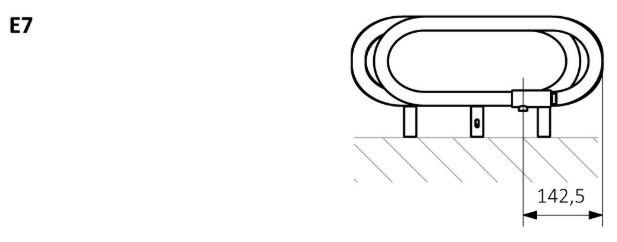 Πετσετοκρεμάστρα TERMA Spiro - Τεχνικά Χαρακτηριστικά
