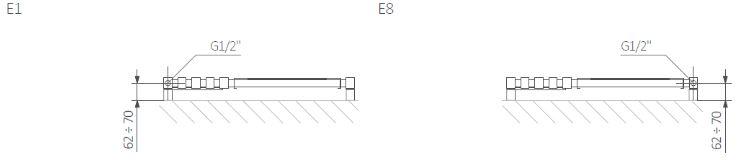 Θερμαντικό Σώμα TERMA Triga M E - Τεχνικά Χαρακτηριστικά