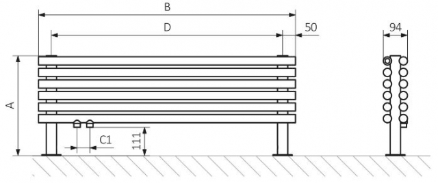 Θερμαντικό Σώμα TERMA Tune HSD - Τεχνικά Χαρακτηριστικά