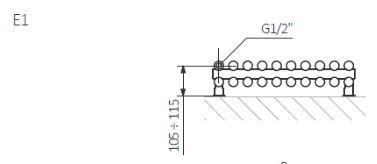 Θερμαντικό Σώμα TERMA Tune VWD E - Τεχνικά Χαρακτηριστικά