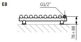 Θερμαντικό Σώμα TERMA Tune VWS E - Τεχνικά Χαρακτηριστικά