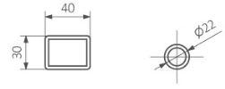 Πετσετοκρεμάστρα TERMA Tytus - Τεχνικά Χαρακτηριστικά
