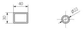 Πετσετοκρεμάστρα TERMA Tytus One - Τεχνικά Χαρακτηριστικά