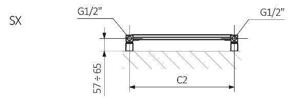 Πετσετοκρεμάστρα TERMA Vivo - Τεχνικά Χαρακτηριστικά