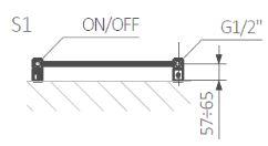 Πετσετοκρεμάστρα TERMA Vivo One - Τεχνικά Χαρακτηριστικά