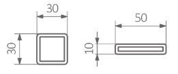 Πετσετοκρεμάστρα TERMA Warp S - Τεχνικά Χαρακτηριστικά