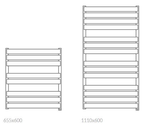 Θερμαντικό Σώμα / Πετσετοκρεμάστρα TERMA Warp T Bold One - Τεχνικά Χαρακτηριστικά