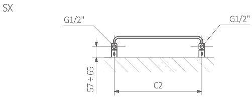 Πετσετοκρεμάστρα TERMA Warp T - Τεχνικά Χαρακτηριστικά